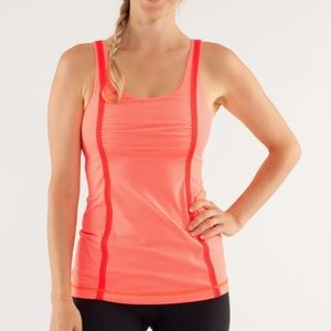 Lululemon Wholehearted Orange Pink Tonka Stripe